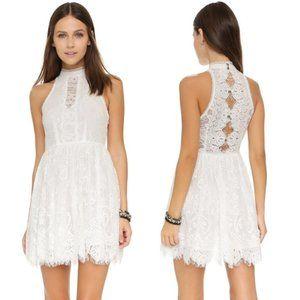 Free People Verushka Lace Mini Dress in White 2
